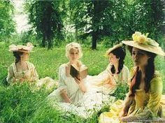 A garden gathering in the palace of Versailles #garden #rococo_fashion #romantic_movie #marie_antoinette #fresh #girls_time
