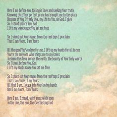 More matthew west lyrics
