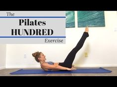 The Pilates Hundred Exercise - A Step by Step Guide The Pilates Hundred Exercise is a fundamental Pilates mat exercise that strengthens your core, improves your breathing and tones your muscles! Lower Abdomen, Lower Abs, Pilates Abs, Pilates Classes, 5 Minute Abs Workout, Lower Ab Workouts, Mat Exercises, Fast Weight Loss, Back Pain