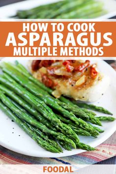 Want to learn how to cook asparagus? With the help of our step-by-step guide you can easily whip up this tasty vegetable three different ways: in the oven, steamed, or blanched, to use in recipes or serve alongside your favorite entrees. Learn to master each of these cooking methods now. #asparagus #cooking101 #foodal Healthy Side Dishes, Vegetable Side Dishes, Side Dishes Easy, Side Dish Recipes, Easy Recipes, Dairy Free Recipes, Vegetarian Recipes, Dairy Free Breakfasts, How To Cook Asparagus