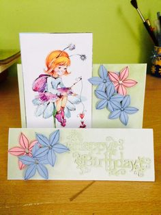 Birthday card with flower and fairy I Card, Birthday Cards, Fairy, Flowers, Bday Cards, Birthday Greetings, Royal Icing Flowers, Flower, Florals