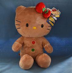RETIRED BUILD-A-BEAR Plush Stuffed HELLO KITTY Gingerbread W/Tags BABW SANRIO…