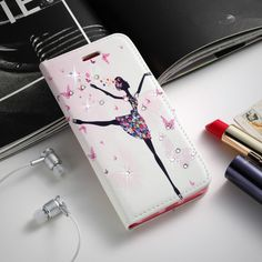 Rhinestone Case For Huawei P8 Lite P8 Mini P8lite Glitter Diamond Case Flip Wallet PU Leather Cover Card Slots Stand Cases Gifts