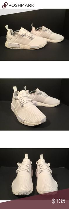 Adidas NMD Item details:   -adidas brand  -in great condition  -Men's Size 10  -triple white  -boost technology   All my shoes are 100% authentic. Buyer satisfaction is very important to me and I will always do my best to make sure you have a good experience when purchasing my items. I sell many hard to find, past season, and popular shoes at discount prices. If I have the box for the shoes, I always include it in the pictures. adidas Shoes Athletic Shoes
