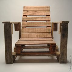 Garden chair made from pallets