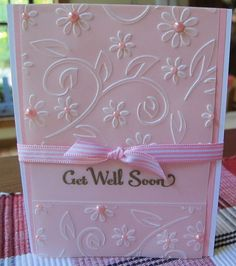 Item #6265 · Heart Prints  Run Vellum through Embossing Folder & Layer over color c/s