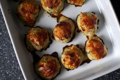 Baked chicken meatballs. [made. Used bacon instead of pancetta and green onion instead of parsley]