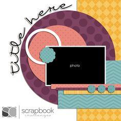 Scrapbook Challenges Sketch 300