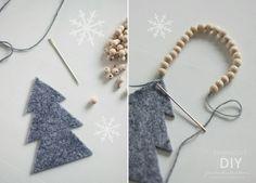 Esmeralda's - DIY for Christmas Crafts To Do, Holiday Crafts, Diy Crafts, Ball Decorations, Christmas Decorations, Modern Christmas Decor, Felt Diy, Christmas 2015, Xmas Ornaments