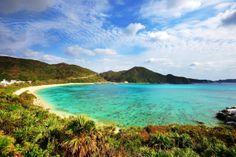 Aharen Beach on the island of Tokashiki in Okinawa, Japan