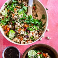 Quick and Easy Brown Rice Salad Recipe Rice Salad Recipes, Brown Rice Recipes, Veggie Recipes, Whole Food Recipes, Vegetarian Recipes, Cooking Recipes, Healthy Recipes, Veggie Meals, Cooking Games