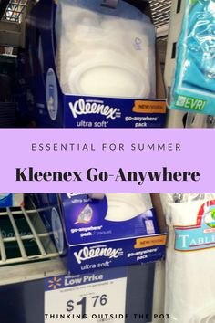 Food Advertising by    Essential For Summer: Kleenex Go-Anywhere Packs     apntag.anq.push(function() {  apntag.showTag('ga_os_9020879');  });      With Summer in full swing now have you thought of what essentials as an on the go family you will need for summer? I have been thinking[Read more]