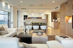 Wandfarbe Cremeweiß in jedem Bereich der modernen Wohnung einsetzbar