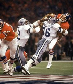 "Linebacker Thomas ""Hollywood"" Henderson blasts Denver QB Norris Weese in Super Bowl XII."