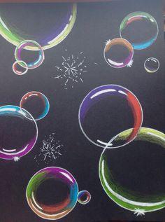 Day Five. Bubbles on black paper. :) - - Day Five. Bubbles on black paper. 🙂 Zeichenideen Day Five. Bubbles on black paper. Bubble Drawing, Bubble Art, Bubble Painting, Chalk Art Christmas, Chalk Art Quotes, 3d Chalk Art, Chalk Paint, Chalkboard Drawings, Sidewalk Chalk Art