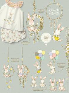 This jam-packed whimsical collection is bursting with spring joy! A Playful Spring Collection filled with spring animals, flowers and more! Panda Illustration, Hedgehog Illustration, Graphic Illustration, Spring Animals, Rustic Frames, Clip Art, Bunny Art, Spring Collection, Flower Patterns