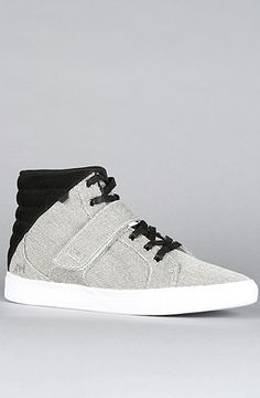 The Designer Mid Sneaker in Pepper & Black by AH by Android Homme Use Rep Code: Novacaine