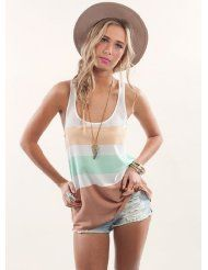 Multi Tank Top - Breezy Pastel Tank Top with Summer Outfits, Cute Outfits, Contemporary Dresses, Material Girls, Look Chic, Casual Chic, Passion For Fashion, Dress To Impress, Style Inspiration
