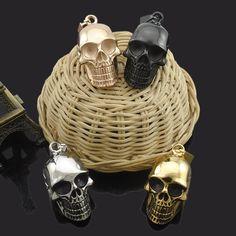 Biker Skull Pendant Necklaces