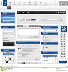 Web Website Element Design Template Stock Photography - Image: 17033292