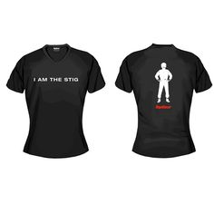 I am the Stig (ladies version)   Ladies shirts   Official Top Gear Merchandise   Amber Promotions