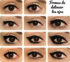 Formas de delinear los ojos