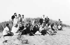 Artists and writers from the the Hamptons colony in 1962 - many made their home in The Springs. by Hans Namuth