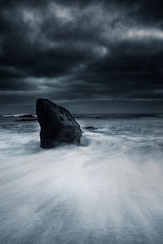 •❈• Storm at Shark Rock - La Jolla, California
