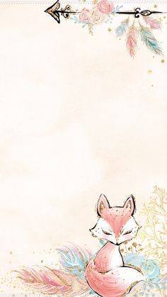 Zorro solitario Cute Wallpaper Backgrounds, Flower Backgrounds, Flower Wallpaper, Cute Wallpapers, Cellphone Wallpaper, Iphone Wallpaper, Flower Frame, Grafik Design, Cute Drawings