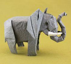 Cute origami elephant.