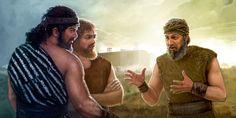 Noah preaches to two men
