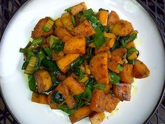Sweet Potatoes With Greens » Pot Kettle Kettle Pot