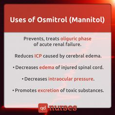 Uses of Osmitrol - What You Need to Know About Osmitrol for the NCLEX #nclex #rn…