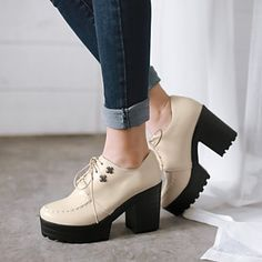 Ruomini Women s Shoes Nz Rough Heel circle Toe Thin Shoes Nz More Colors  Available b216720a5acd1