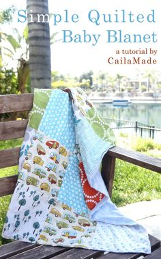 Simple baby quilt or blanket tutorial