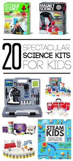 These science kits for kids make the perfect gift for budding engineers and scientists. So cool!