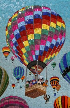 Luchtballonen -Simply incredible mosaic work  www.mozaieknicoline.com