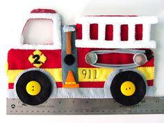 Felt Fire Station - Fire Truck & Dalmatian - tutorial and pattern