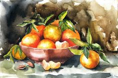 Watercolor on canvas (Still Life) on Behance