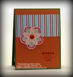 You Make Me Smile Card : Coffee & Chocolate & Stamps ~ Oh My!