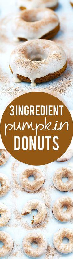 3 Ingredient Baked Pumpkin Donuts   Creme de la Crumb