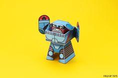 Photo 2 - Rumbolt paper toy robot retro - Fold Up Toys - Designer