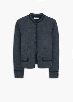 Side-pocket wool-blend jacket - Women | MANGO