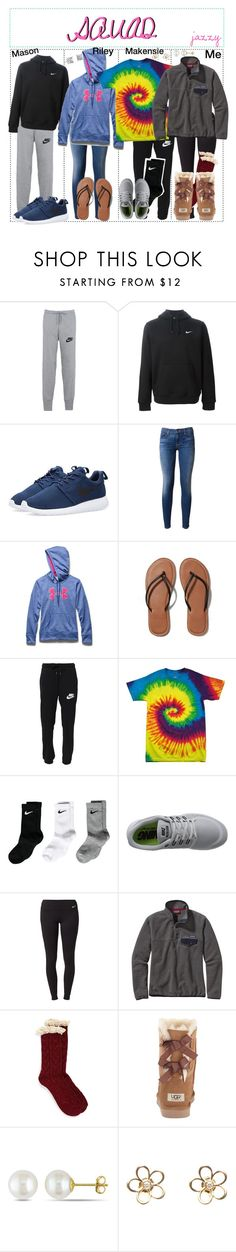 """""""my squad❤"""" by daydreammmm ❤ liked on Polyvore featuring NIKE, Hudson, Under Armour, Abercrombie & Fitch, CO, Patagonia, Free People, UGG Australia, Miadora and Blue Nile"""