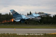 LAUNCH: RED FLAG-ALASKA General Dynamics F-16D Viper USAF 87-0366 18th Aggressor Squadron (AGRS) Russian-style Camo