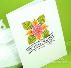 You Make Me Happy Card by Nichole Heady for Papertrey Ink (June 2012)
