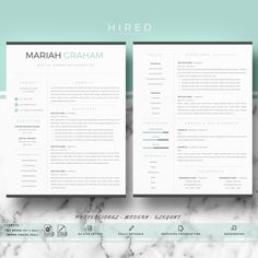 Professional Resume Template for Word & Pages Modern Resume Resume Format, Resume Cv, Resume Writing, Resume Design, Cv Design, Resume Tips, Graphic Design, Modern Resume Template, Cv Template