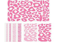Pink Leopard Print Background Wall Decal Sticker. $24.00, via Etsy.