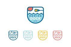 Sputnik Creative - Rowing Dock - multi color logos - illustration in logo - logo design - branding - logo mark