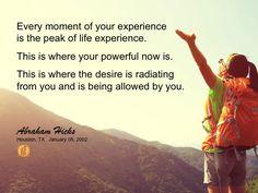 #abrahamhicks #allowing #peak